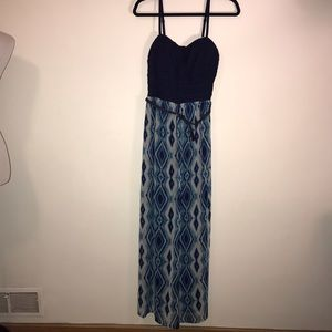 Maxi Dress Spaghetti Straps Lily Rose  NWT